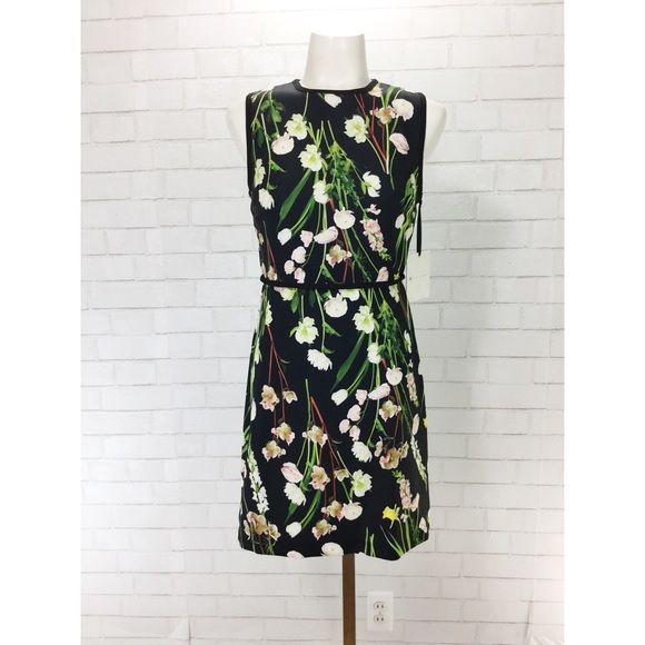 12dd8b3dc6f Women s Black English Floral Satin Dress Xsmall